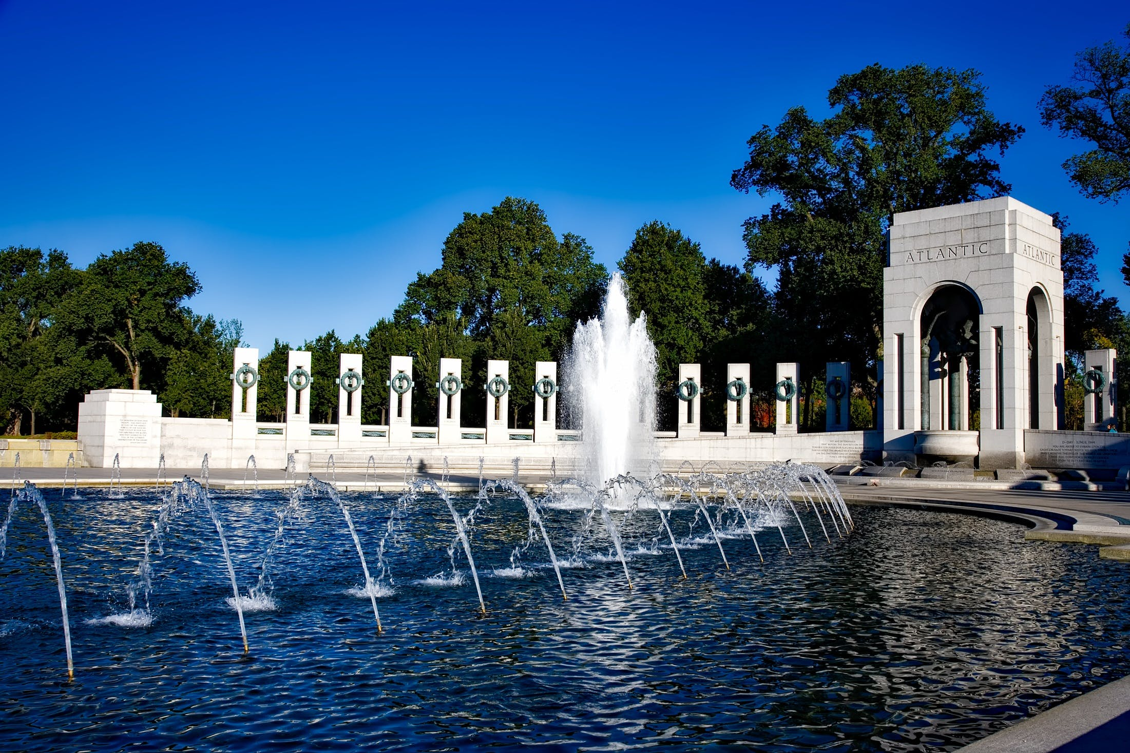 Time-lapse Photography of Water Fountain Under Calm Blue Sky