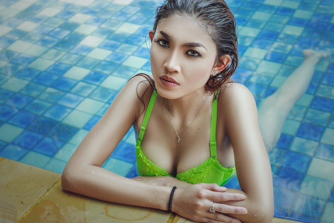 bikini, bơi, Chân dung