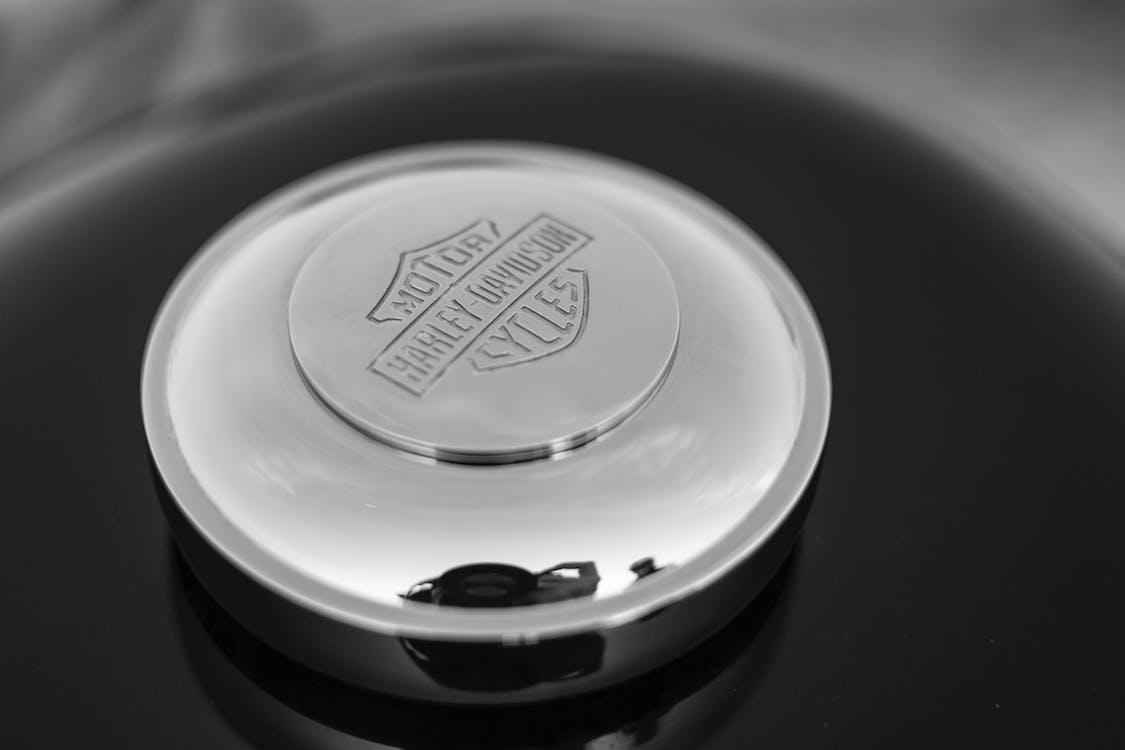 detailný záber, Harley Davidson, hliník