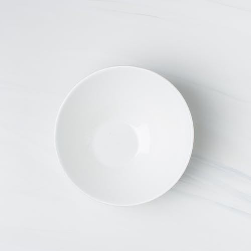 Flatlay Photography of White Ceramic Bowl
