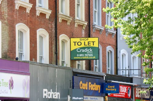 Free stock photo of british high street, shop to let, to let