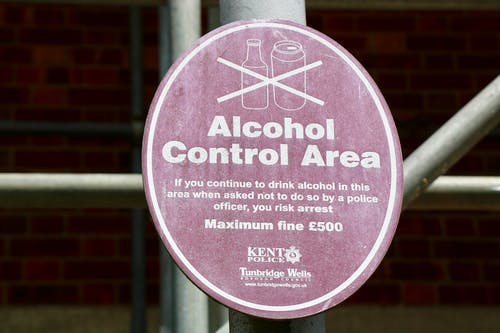 Free stock photo of alcohol, alcohol control area
