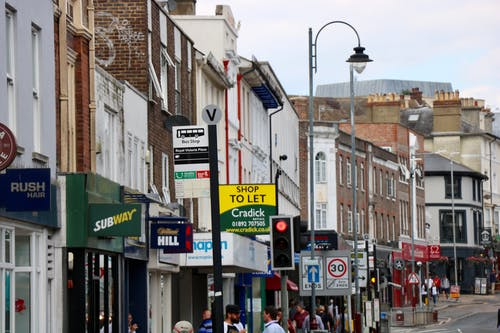 Free stock photo of british high street, high street, to let