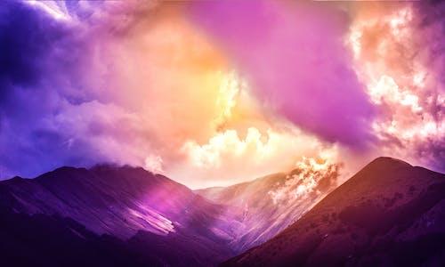 골짜기, 광선, 태양의 무료 스톡 사진