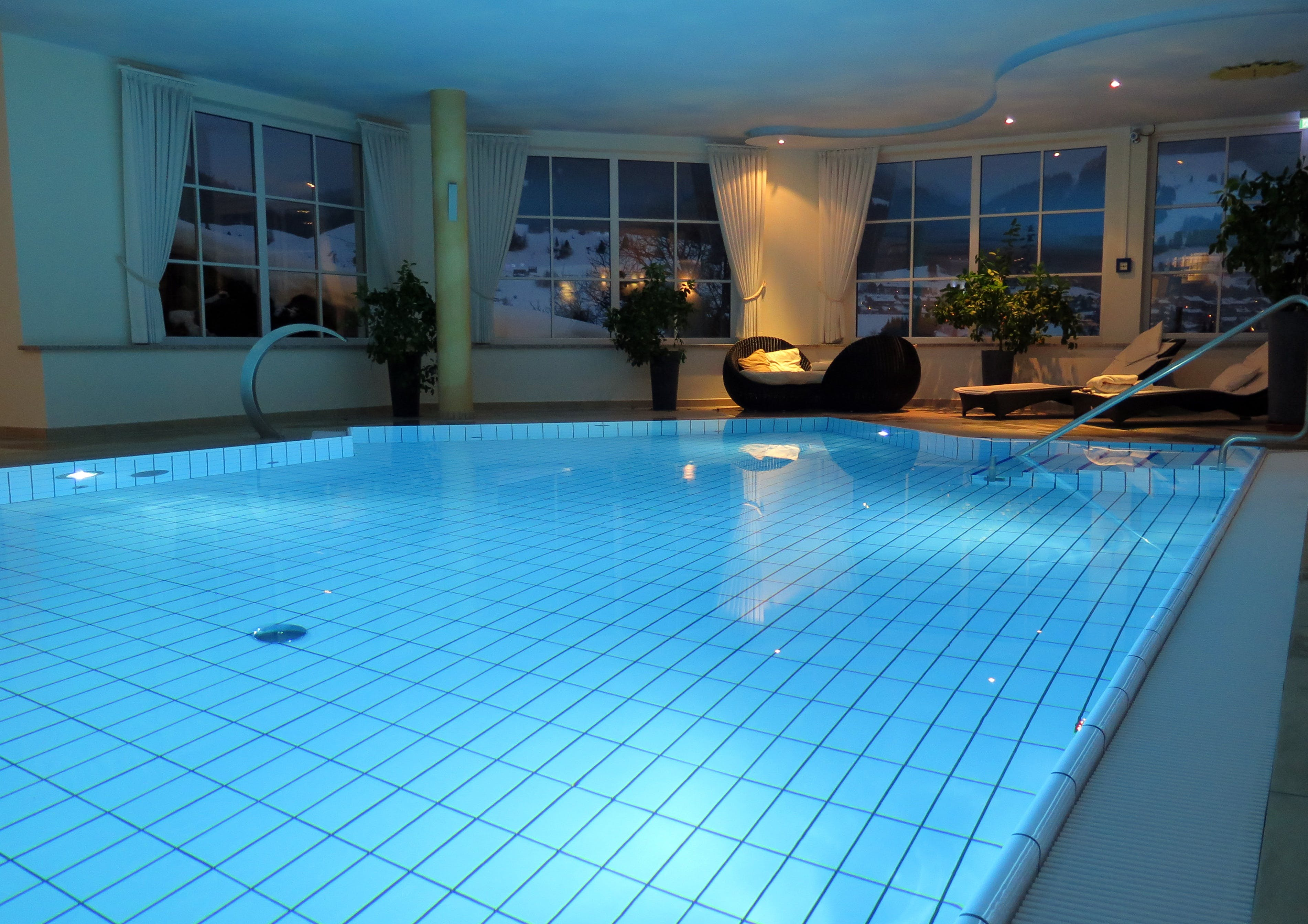 Free stock photo of water, architecture, windows, swimming pool
