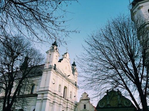 Loww-angle Shot  of a Church