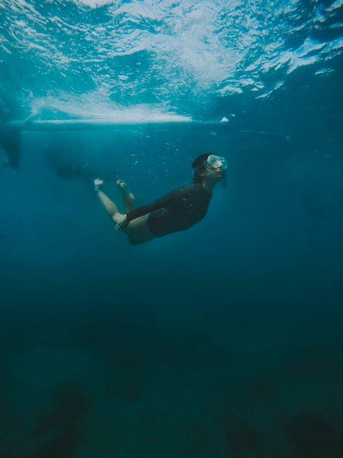 깊은, 다이버, 모험, 바다의 무료 스톡 사진