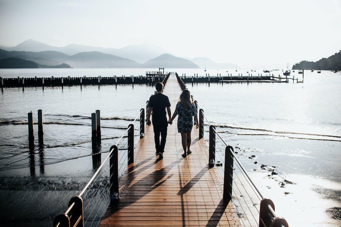 єднання, берег, вид ззаду