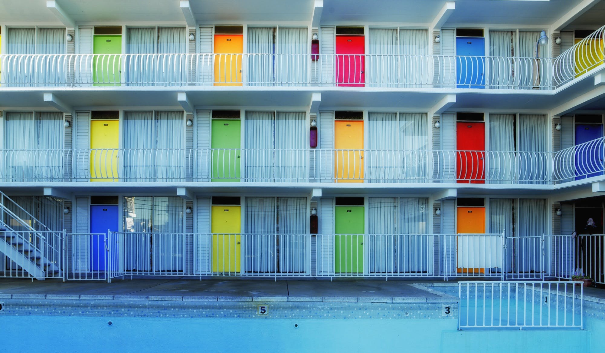Free stock photo of industry, colorful, motel, business
