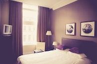 lamps, bed, bedroom