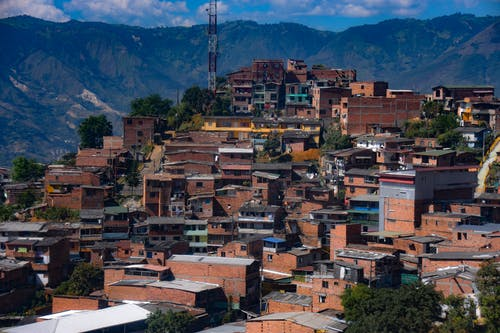 Free stock photo of city, favela, mountain, valley