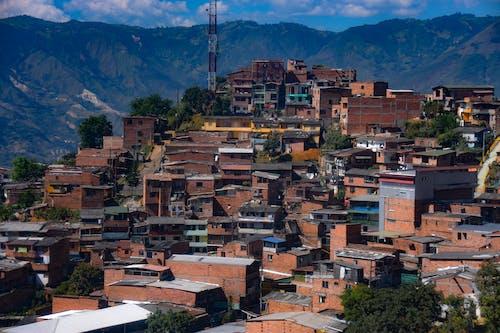 Foto stok gratis favela, gunung, kota, lembah