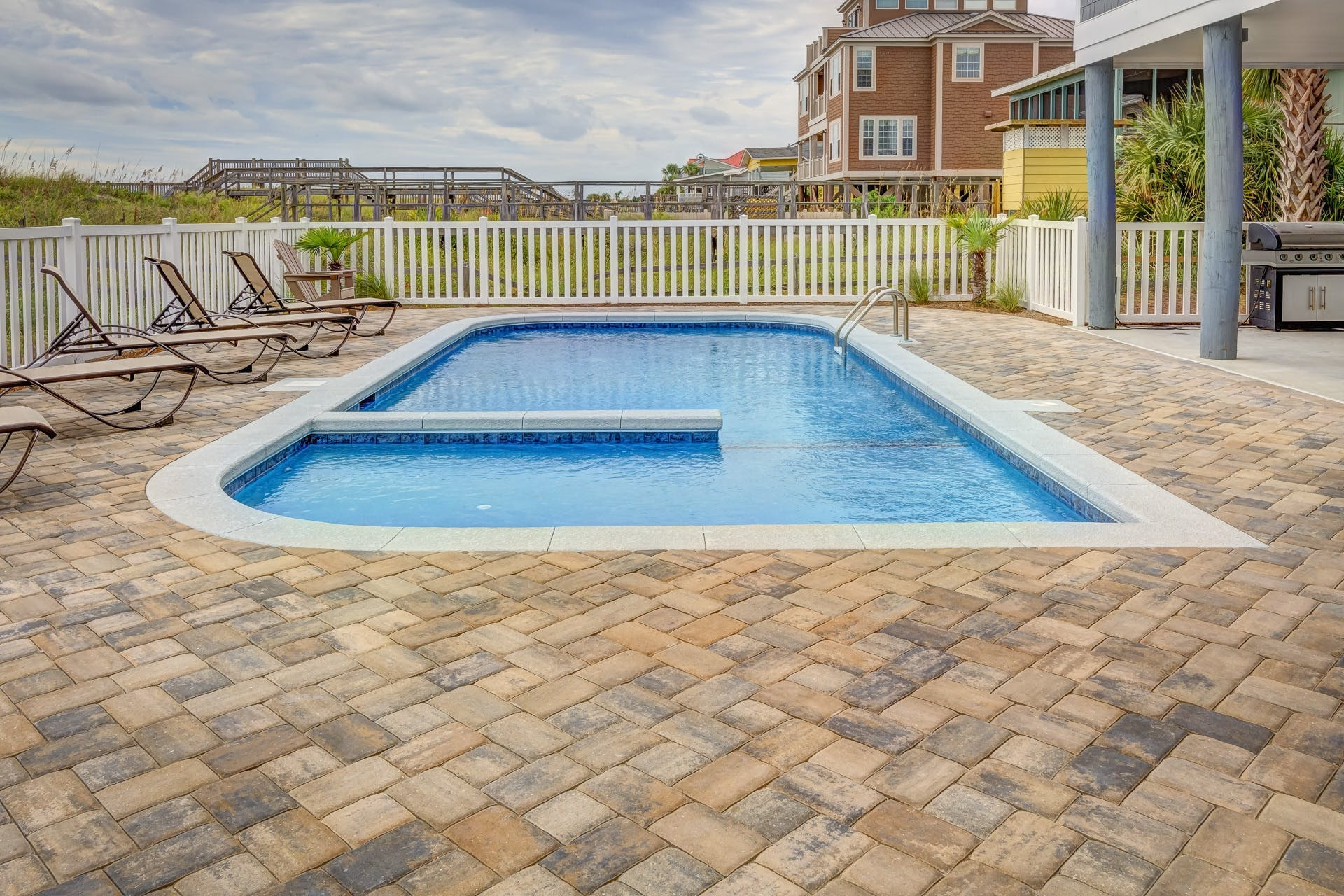 Photography of Pool Near Fence