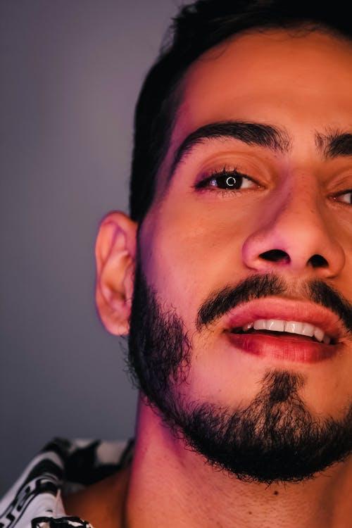 Close-up Photo of Man with Facial Hair
