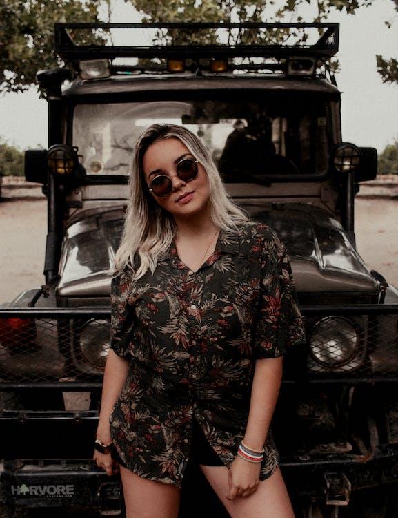 automóvel, cabelo loiro, carro