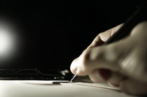 Ingyenes stockfotó írás, kéz, közelkép, toll témában