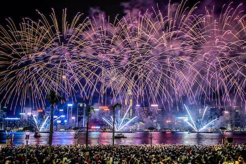 Fotos de stock gratuitas de celebración, exhibición de fuegos artificiales, festival, noche