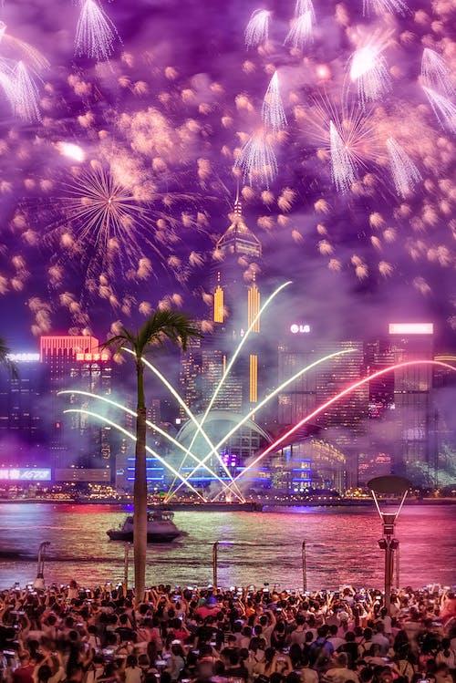 Fotos de stock gratuitas de brillante, celebración, exhibición de fuegos artificiales, festival
