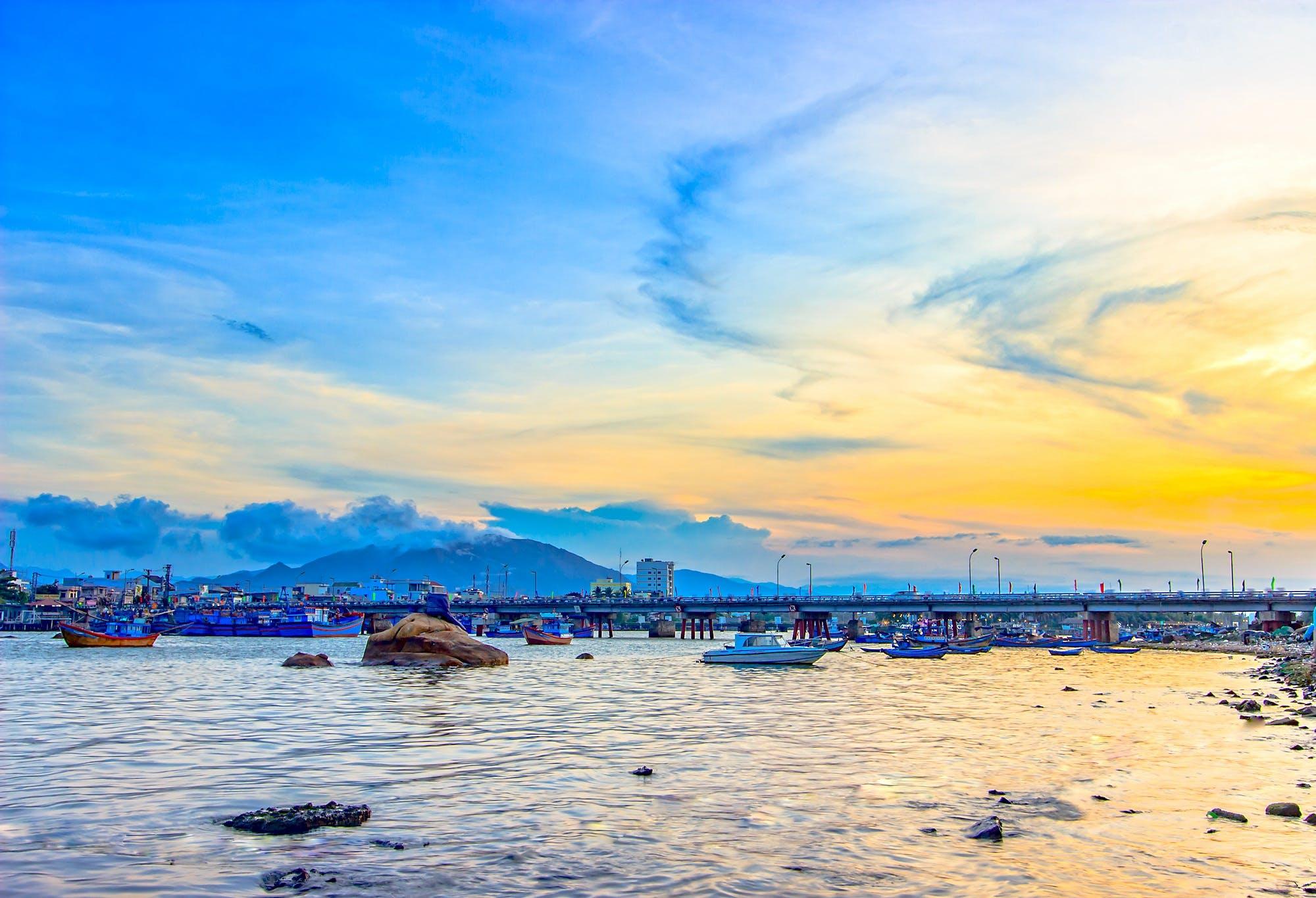 Free stock photo of sea, dawn, landscape, sunset