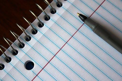 Gray Pen on Spiral Notebook