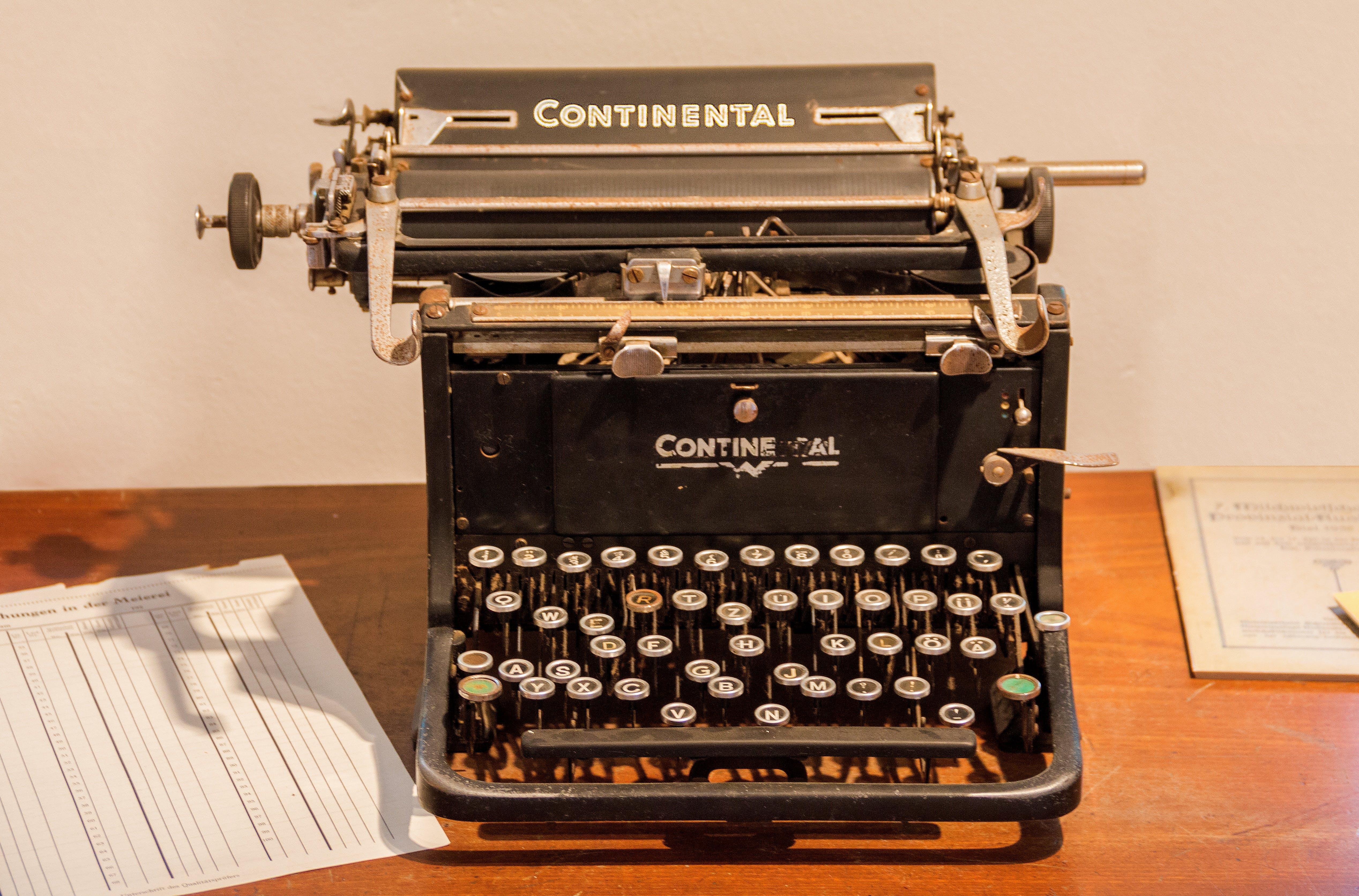 Free stock photo of office, vintage, leaf, keyboard