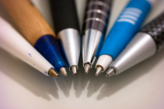 Free stock photo of desk, office, writing, pens