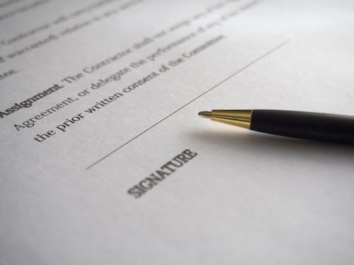 Signature Line on Printer Paper