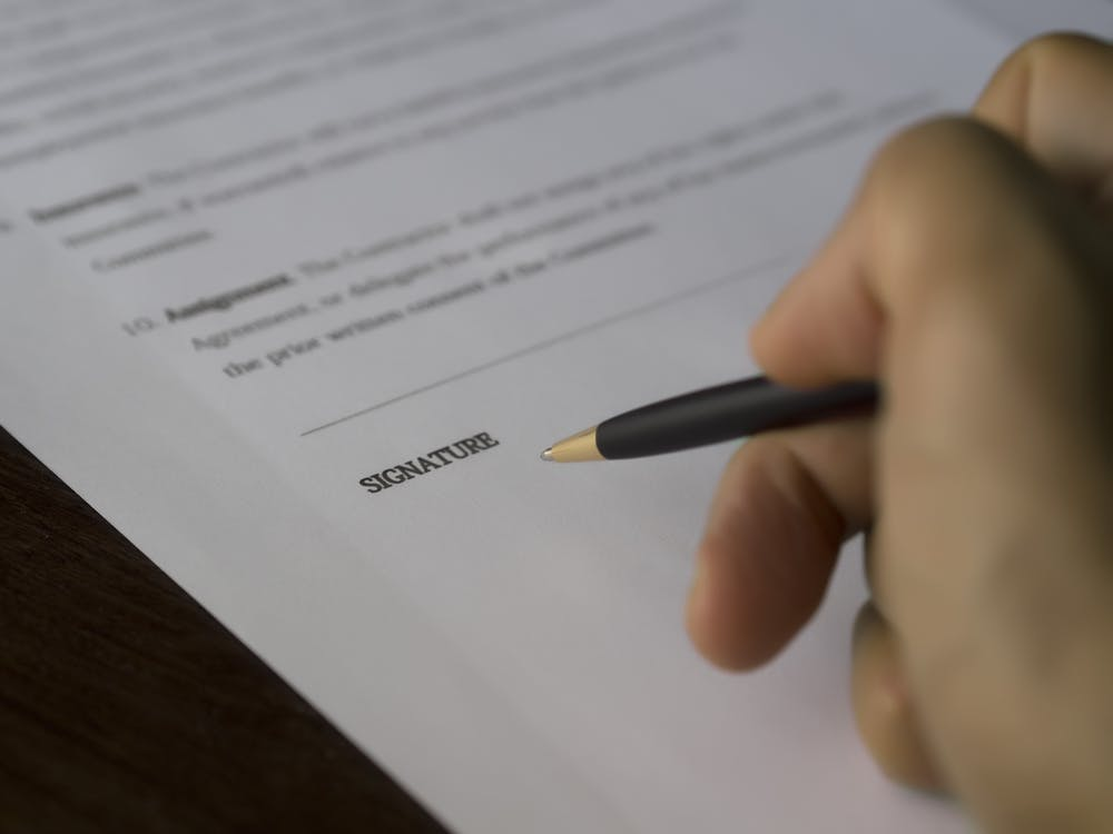 administratíva, detailný záber, dohoda
