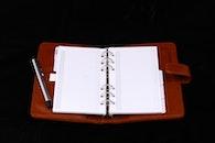 notizbuch, stift, papier