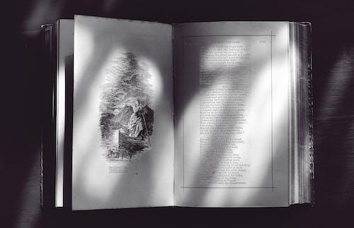 Gratis stockfoto met boek, leesboek, pagina, zwart en wit