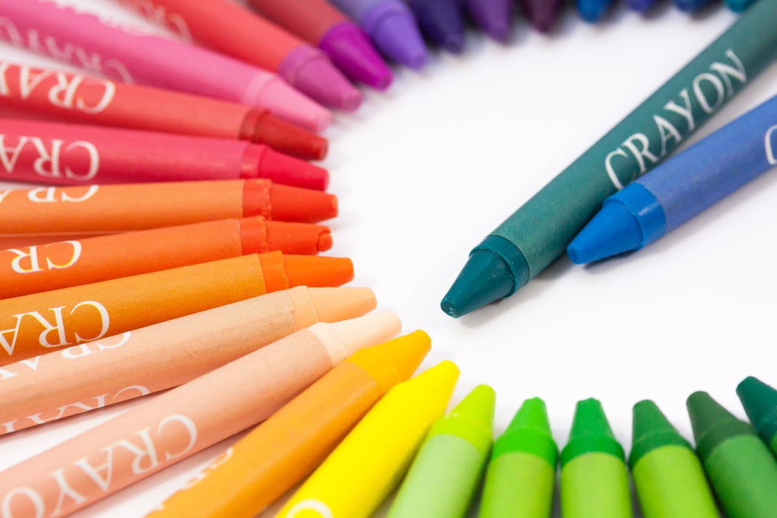 Macro Photography of Crayon Lot