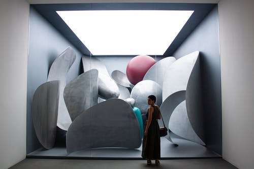 Free stock photo of art, biennale, grey, lady