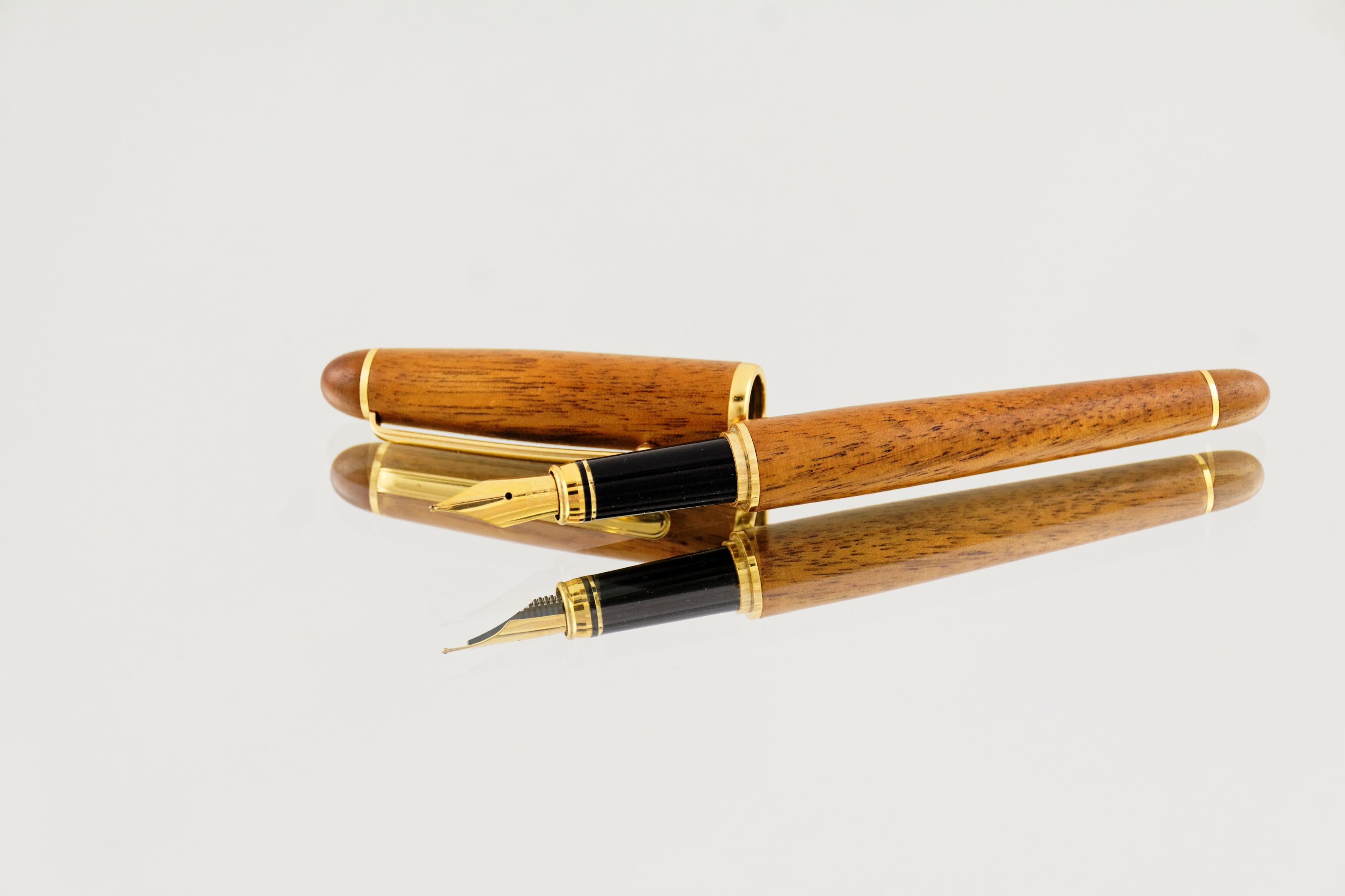 Brown and Black Fountain Pen