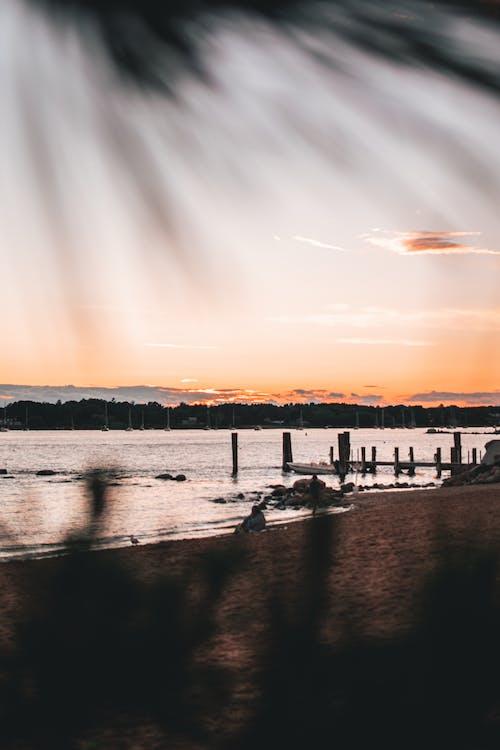 Безкоштовне стокове фото на тему «Захід сонця, небо, пляж, Світанок»