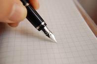 hand, sign, pen