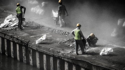 Photos gratuites de ouvrier du bâtiment, travailler dur