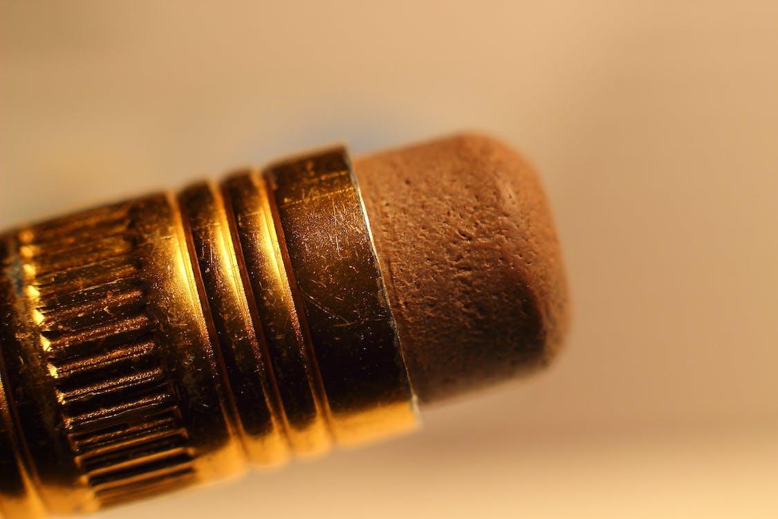 Macro Photography of Pencil Erase