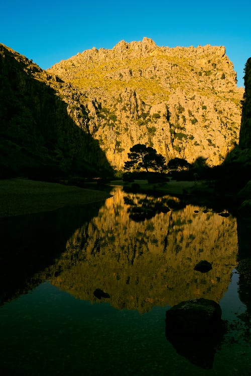 Free stock photo of balearic, beautiful nature, hill, lake