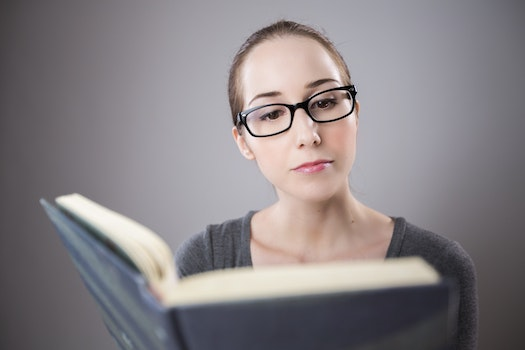 Free stock photo of woman, girl, eyewear, book