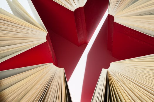 Free stock photo of red, art, books, abstract