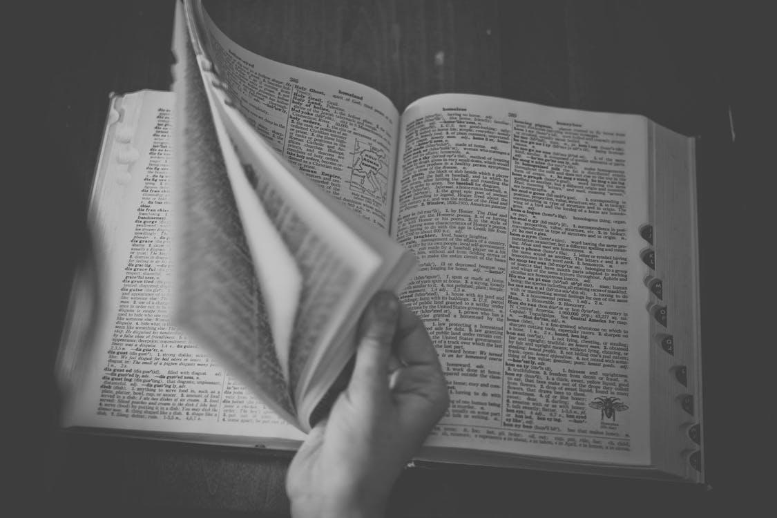 Free stock photo of dictionary, reading