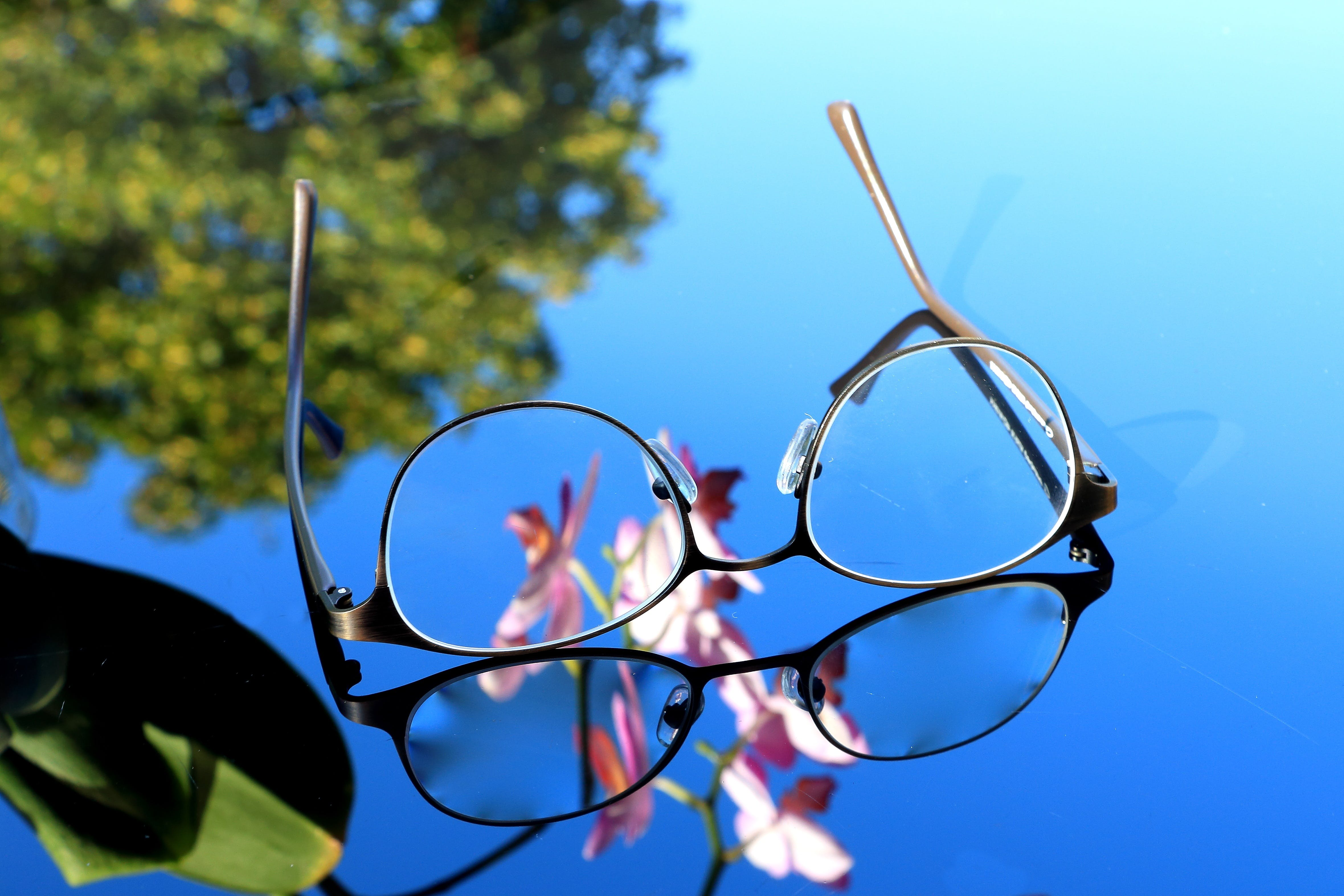 Macro Photography of Eyeglasses