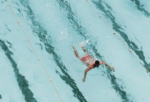 Aerial Photography Of Swimming Man