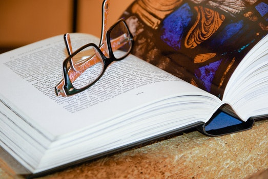 Free stock photo of eyewear, research, book, paper