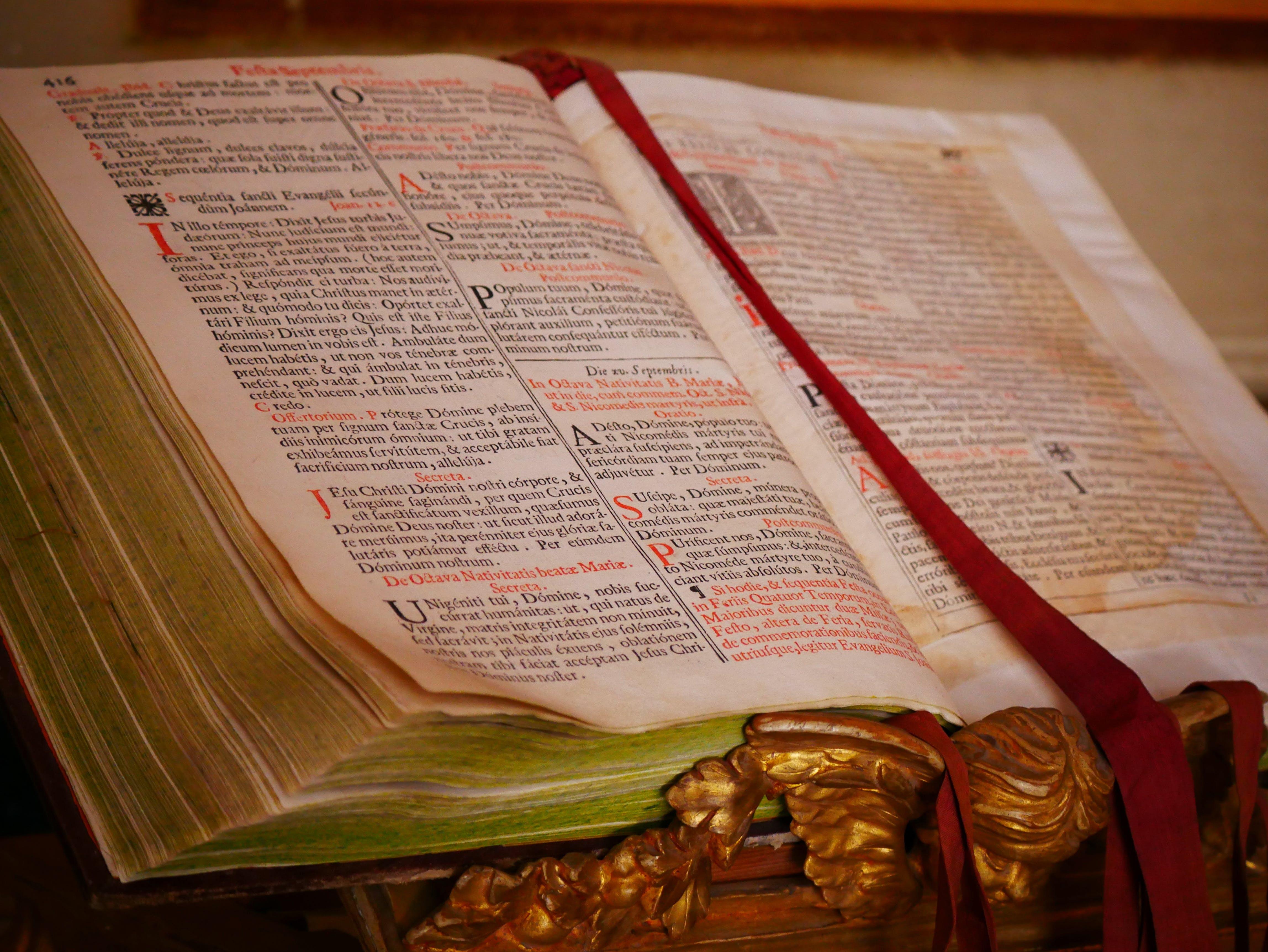 Free stock photo of bible, bookmark, christian, faith