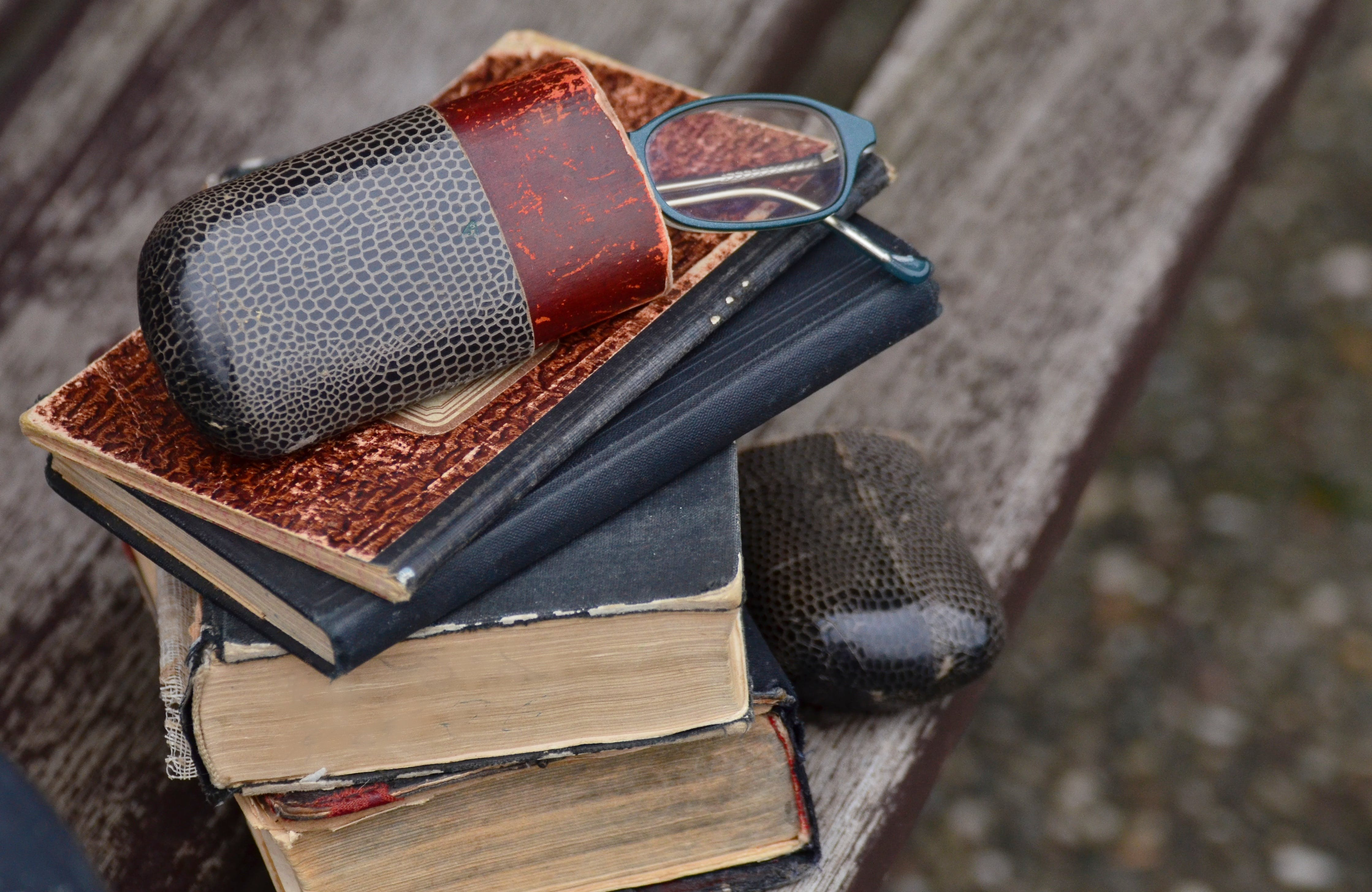 Free stock photo of books, old, glasses, antique