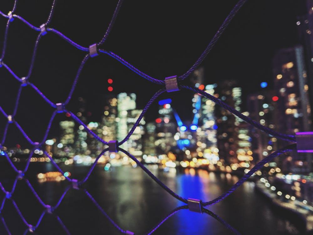 các tòa nhà, đêm, đèn