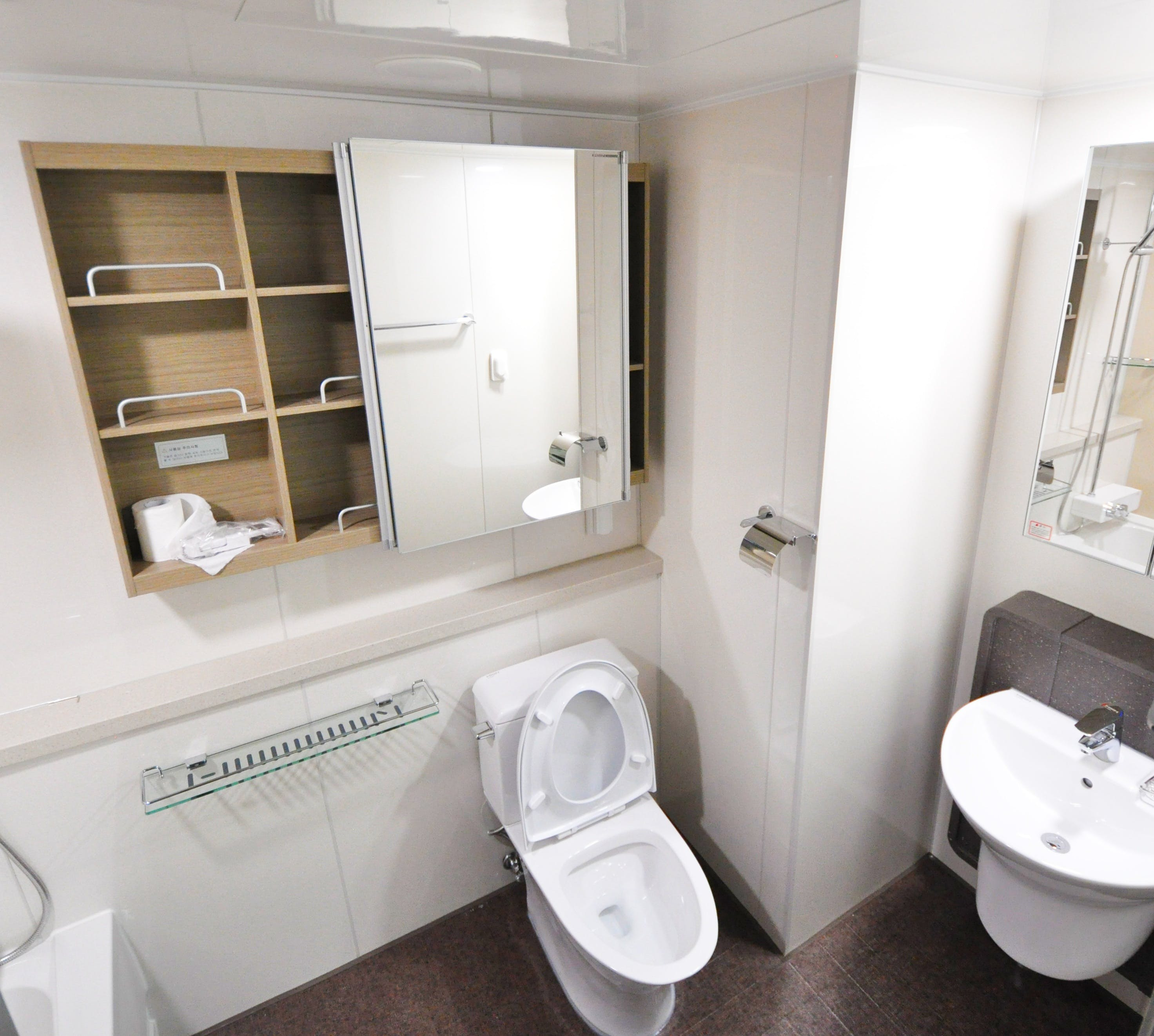 White Water Closet in Bathroom