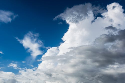 Cumulus Clouds on Blue Sky