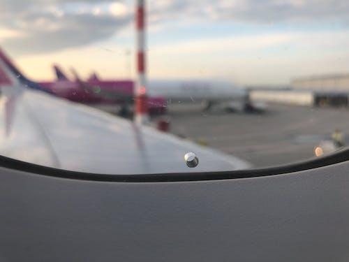 Ilmainen kuvapankkikuva tunnisteilla ikkuna, lentokentän portti, lentokone